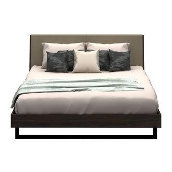 ชุดห้องนอน เตียง รุ่น Mezzini สีสีเข้มลายไม้ธรรมชาติ-SB Design Square