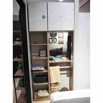 ชุดห้องนอน โต๊ะเครื่องแป้งแบบยืน รุ่น Bricko สีสีน้ำตาล-SB Design Square