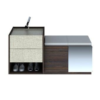 ตู้รองเท้า ขนาด 120 ซม. รุ่น Seata-00
