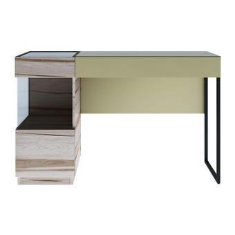 ชุดห้องนอน โต๊ะเครื่องแป้งแบบนั่ง รุ่น Verre สีสีอ่อนลายไม้ธรรมชาติ-SB Design Square