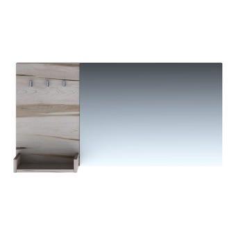 ชุดห้องนอน กระจกแบบแขวน รุ่น Verre สีสีอ่อนลายไม้ธรรมชาติ-SB Design Square