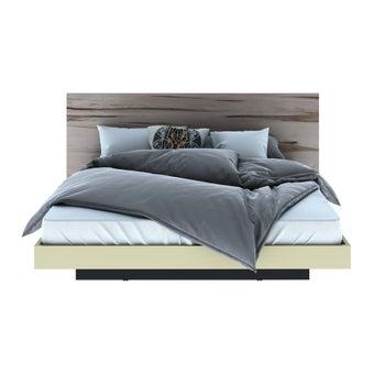 ชุดห้องนอน เตียง รุ่น Verre สีสีอ่อนลายไม้ธรรมชาติ-SB Design Square