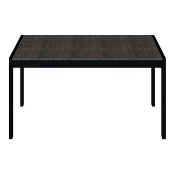 โต๊ะอาหาร รุ่น Novem สีเข้มลายไม้ธรรมชาติ3