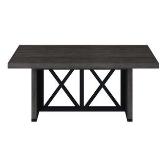 โต๊ะอาหาร รุ่น Berska plus สีเข้มลายไม้ธรรมชาติ3