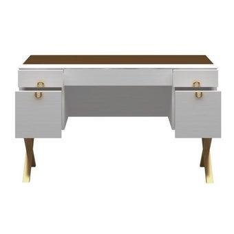 ชุดห้องนอน โต๊ะเครื่องแป้งแบบนั่ง รุ่น Muara สีสีขาว-SB Design Square