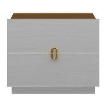 ชุดห้องนอน โต๊ะข้างไม้ท๊อปกระจก รุ่น Muara สีสีขาว-SB Design Square