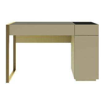 ชุดห้องนอน โต๊ะเครื่องแป้งแบบนั่ง รุ่น Heztiara สีสีน้ำตาลอ่อน-SB Design Square