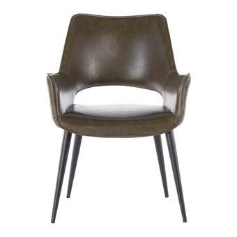 เก้าอี้ทานอาหาร เก้าอี้เหล็กเบาะหนัง รุ่น Yonest-SB Design Square