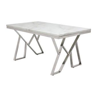 โต๊ะทานอาหาร โต๊ะอาหารขาเหล็กท๊อปหิน รุ่น Apollo-SB Design Square