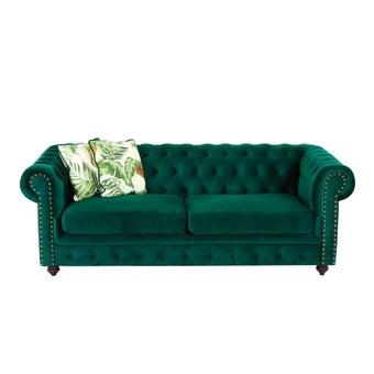 โซฟาผ้า 3 ที่นั่ง Lorah สีเขียว-01