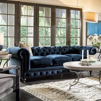 โซฟาผ้า3ที่นั่ง 417501-623 สีน้ำเงิน-01