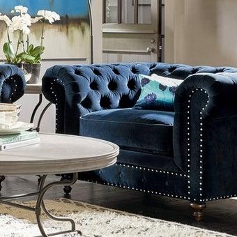 โซฟาผ้า1ที่นั่ง 417503-623 สีน้ำเงิน-01