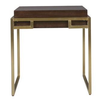 โต๊ะข้าง รุ่น 644802 สีเข้มลายไม้ธรรมชาติ-00