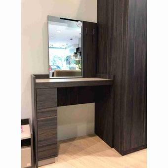 ชุดห้องนอน โต๊ะเครื่องแป้งแบบนั่ง รุ่น Econi สีสีเข้มลายไม้ธรรมชาติ-SB Design Square