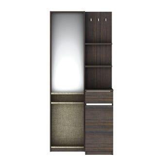 ชุดห้องนอน โต๊ะเครื่องแป้งแบบยืน รุ่น Ricchi สีสีเข้มลายไม้ธรรมชาติ-SB Design Square