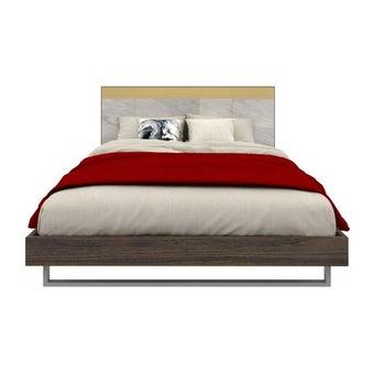 ชุดห้องนอน เตียง รุ่น Reiss สีสีเข้มลายไม้ธรรมชาติ-SB Design Square