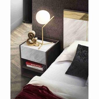 ชุดห้องนอน ตู้ข้างเตียง รุ่น Reiss สีสีเข้มลายไม้ธรรมชาติ-SB Design Square