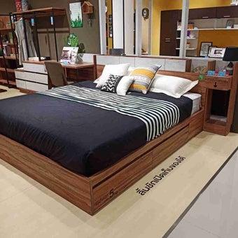 ชุดห้องนอน เตียง รุ่น Bricko สีสีน้ำตาล-SB Design Square