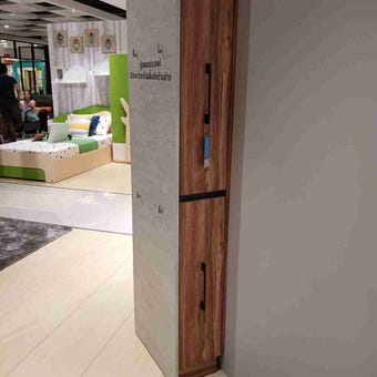 ตู้เก็บของ ตู้รองเท้า รุ่น Bricko สีสีน้ำตาล-SB Design Square