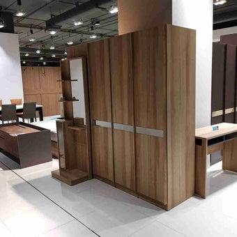 ชุดห้องนอน ตู้เสื้อผ้าบานเปิด รุ่น Meudon สีสีโอ๊ค-SB Design Square
