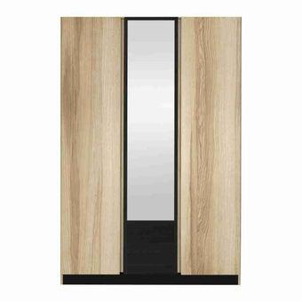 ชุดห้องนอน ตู้เสื้อผ้าบานเปิด รุ่น Patinal สีสีโอ๊ค-SB Design Square