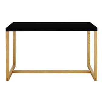 โต๊ะทานอาหาร โต๊ะอาหารขาเหล็กท๊อปไม้ รุ่น Kilo-SB Design Square