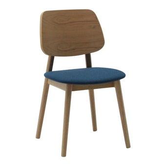 เก้าอี้ทานอาหาร เก้าอี้ไม้เบาะผ้า รุ่น Tumo สีสีลายไม้ธรรมชาติ-SB Design Square