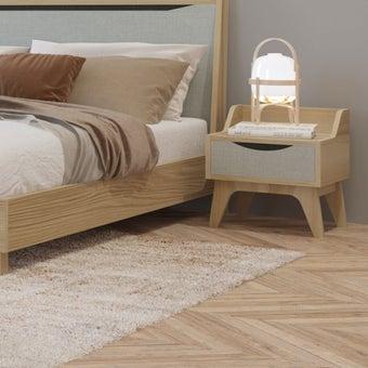 ชุดห้องนอน ตู้ข้างเตียง รุ่น Backus สีสีโอ๊ค-SB Design Square