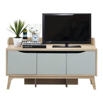 ชุดวางทีวี ไซด์บอร์ด รุ่น Backus สีสีโอ๊ค-SB Design Square