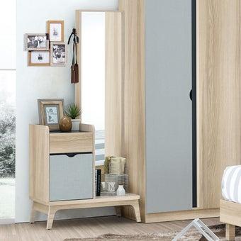 ชุดห้องนอน โต๊ะเครื่องแป้งแบบยืน รุ่น Bente สีสีโอ๊ค-SB Design Square