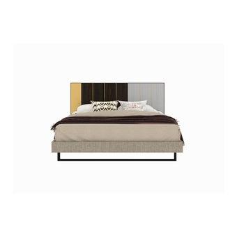 เตียงนอน ขนาด 6 ฟุต รุ่น Aureus สีอ่อน1
