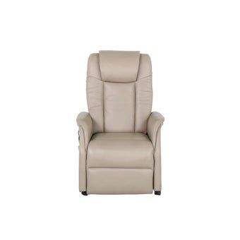 เก้าอี้พักผ่อนหนังแท้ เก้าอี้พักผ่อนปรับระดับไฟฟ้า 1 ที่นั่ง รุ่น Calca สีสีครีม-SB Design Square