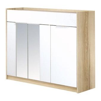 ตู้เก็บของ ตู้รองเท้า รุ่น Nilleสีโอ๊ค-SB Design Square