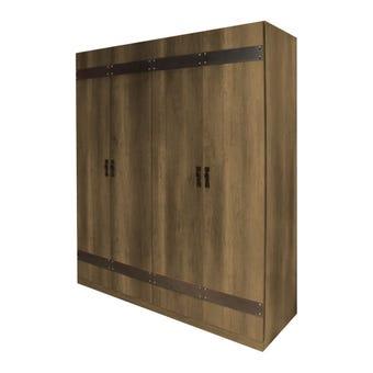 ตู้เสื้อผ้าขนาด 186 ซม. รุ่น Woodwild