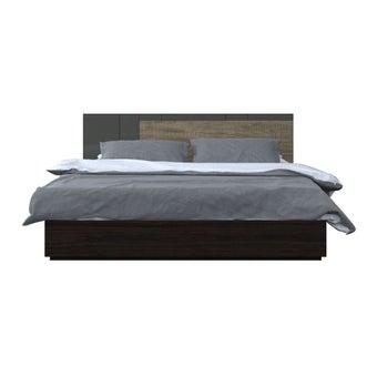 ชุดห้องนอน เตียง รุ่น Leno สีสีเข้มลายไม้ธรรมชาติ-SB Design Square