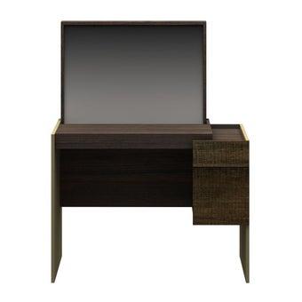ชุดห้องนอน โต๊ะเครื่องแป้งแบบนั่ง รุ่น Leno สีสีเข้มลายไม้ธรรมชาติ-SB Design Square