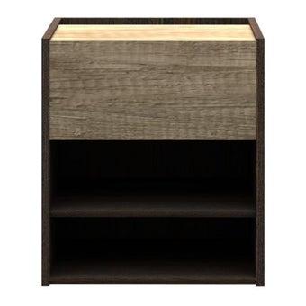 ชุดห้องนอน ตู้ข้างเตียง รุ่น Leno สีสีเข้มลายไม้ธรรมชาติ-SB Design Square