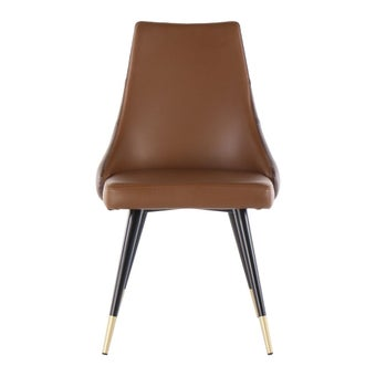เก้าอี้ทานอาหาร เก้าอี้เหล็กเบาะหนัง รุ่น Toptap-SB Design Square