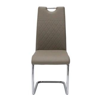 เก้าอี้ทานอาหาร เก้าอี้ไม้เบาะหนัง รุ่น Tata-SB Design Square