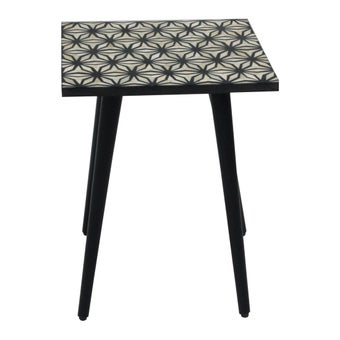 โต๊ะข้าง โต๊ะข้างไม้ล้วน รุ่น Lombony สีสีดำ-SB Design Square