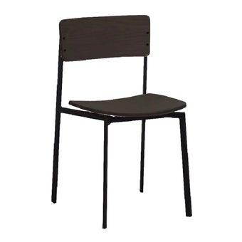 เก้าอี้สั่งทำ รุ่น Angle สีไม้เข้ม1
