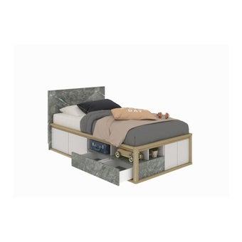 เตียงนอน ขนาด 3.5 ฟุต รุ่น Amsterdam สีโอ๊ค-00