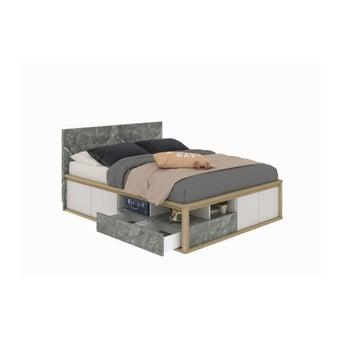 เตียงนอน ขนาด 5 ฟุต รุ่น Amsterdam สีโอ๊ค-00