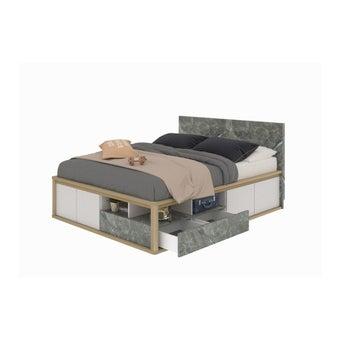 เตียงนอน ขนาด 5 ฟุต รุ่น Amsterdam สีโอ๊ค-01
