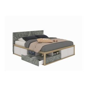 เตียงนอน ขนาด 6 ฟุต รุ่น Amsterdam สีโอ๊ค-00