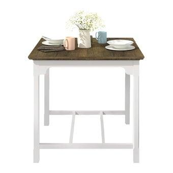โต๊ะทานอาหาร โต๊ะอาหารไม้ล้วน รุ่น Croissant สีสีขาว-SB Design Square