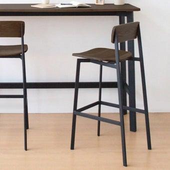 เก้าอี้สั่งทำ รุ่น Angle สีไม้เข้ม4
