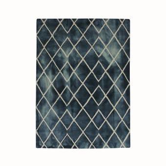 พรมตกแต่ง#40905-140 สีน้ำเงิน/QY