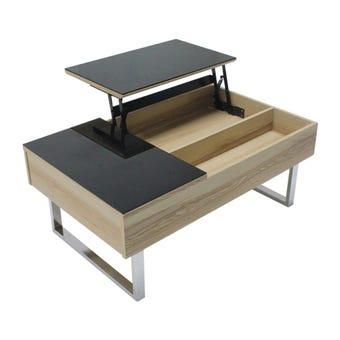 โต๊ะกลาง โต๊ะกลางเหล็กท๊อปกระจก รุ่น Acadia-SB Design Square