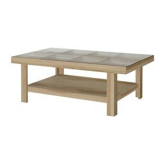 โต๊ะกลาง โต๊ะกลางไม้ท๊อปกระจก รุ่น Adorn-SB Design Square